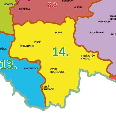 Mapy Geodezie On Line Cesko Podle Regionu 14 Jizni Cechy